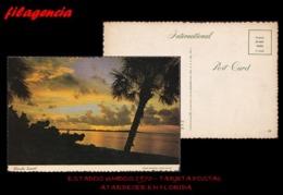TRASTERO. ESTADOS UNIDOS. TARJETAS POSTALES. TARJETA POSTAL 1970. ATARDECER EN LAS COSTAS DE LA FLORIDA - West Palm Beach