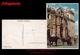 TRASTERO. PERÚ. TARJETAS POSTALES. TARJETA POSTAL 1970. CATEDRAL DEL CUZCO - Perú