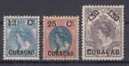 Netherlands Curacao 1901,1902 Mi#32-34 Mint - Curaçao, Nederlandse Antillen, Aruba