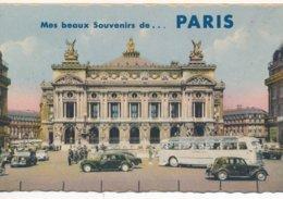 Carte A Système De 10 Vues - Mes Beaux Souvenir De Paris - Opéra Autocar Et Traction Avant - Arrondissement: 09