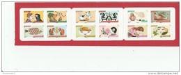 CARNET 12 TIMBRES 2014 NEUF NON PLIE LES SENS- L ODORAT- LE PARFUM DE LA ROSE BC1033 -BC 1033 - - Carnets