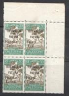 1943 Timbre Taxe 30 Cent Surchagé «France Libre» Yv T31 ** Bloc De 4 Dont 2 Surcharge Partielle TRÈS RARE. - Postage Due
