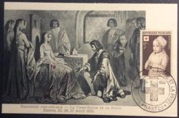 CM328 Carte Maximum 914 Exposition Croix Rouge Et Poste Nantes Anne De Bretagne Reçoit Louis D'Orléans 25/4/1952 - Cartes-Maximum