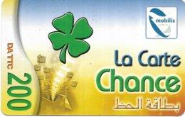 @+ Algerie - La Carte Chance - Verso 20 SMS - Algeria