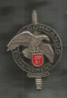 Militaria, Insigne, Commando Entrainement ,26 E RI, Ballard Brunoy , GS 31 , Frais Fr 1.95 E - Armée De Terre