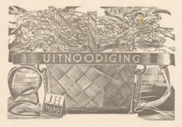 Uitnodiging Tentoonstelling Zaal Akos, 1939 - Jos Hendrickx - Anuncios