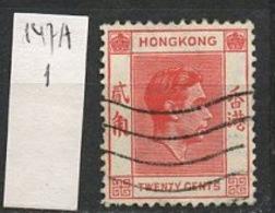 Hong Kong 1938-48 Y&T N°147A - Michel N°147 (o) - 20c George VI - Hong Kong (...-1997)