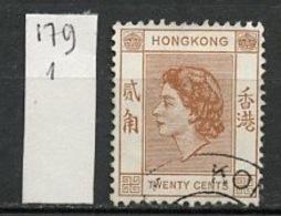 Hong Kong - Honkong - Chine 1957-60 Y&T N°179 - Michel N°181 (o) - 20c Reine Elisabeth II - Used Stamps