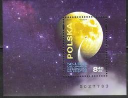 POLAND, 2019, MNH, SPACE, MOON LANDING, S/SHEET - Europa