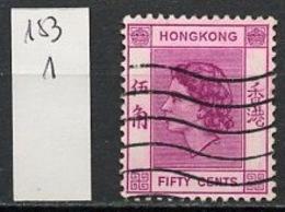 Hong Kong - Honkong - Chine 1957-60 Y&T N°183 - Michel N°185 (o) - 50c Reine Elisabeth II - Used Stamps