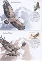 ABKHAZIA 2019 EUROPA CEPT NATIONAL BIRDS .SET 2 FDC - 2019