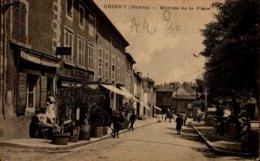 69-GRIGNY...MONTEE DE LA PLACE...CPA ANIMEE - Grigny