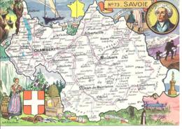 CARTE GEOGRAPHIQUE - Département De LA SAVOIE - Par PINCHON - Landkarten
