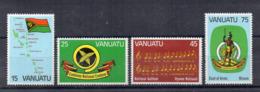 VANUATU - 1981 - 1° Anniversario Indipendenza - 4 Valori - Nuovi - Linguellati * -  (FDC17174) - Vanuatu (1980-...)