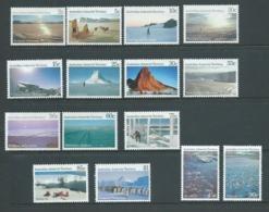 Australian Antarctic Territory 1984 - 1987 Scenes Definitives Set 15 MNH - Australian Antarctic Territory (AAT)