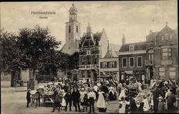 Cp Hellevoetsluis Südholland, Markt - Pays-Bas