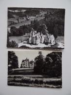 37 NOYAN-de-TOURAINE Domaine De BROU Château Maison Familiale De Vacances Lot De 2 Cartes Postales - France