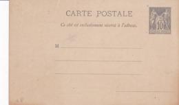 Carte Sage 10 C Noir G8 Neuve Repiquée Société Linnéenne De Normandie - Entiers Postaux