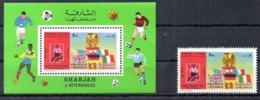 SHARJAH. BF Dentelé + Timbre Sans Gomme De 1970. Mexico'70. - World Cup