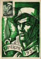 """Légion Etrangére - Camerone 1954 - Cachet """"Groupement Philatélique Bel-Abbès"""" - Reggimenti"""