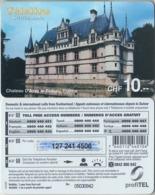 SWITZERLAND - PHONE CARD - PRÉPAID - TELELINE  ***  CHÂTEAU D'AZAY / F  *** - Landschappen