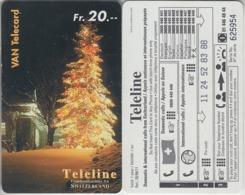 SWITZERLAND - PHONE CARD - PRÉPAID - TELELINE  ***  ARBRE DE NOEL  *** - Natale