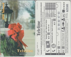 SWITZERLAND - PHONE CARD - PRÉPAID - TELELINE  ***  DÉCO DE NOEL  *** - Natale