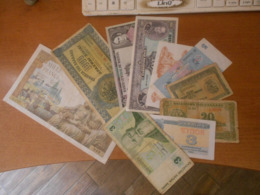 FRANCE   -  TUNISIE   -  GREECE    AND  OTHERS   11  BILLETS  LOT - 1955-1959 Opdruk ''Nouveaux Francs''