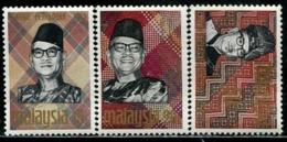 MY0784 Malaysia 1969 Abdul Rahman Prime Minister 3V MLH MNH - Malaysia (1964-...)