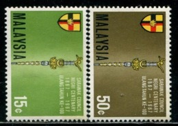 MY0789 Malaysia 1967 Sarawak Huizhi And Parliamentary Scepter 2V MLH MNH - Malaysia (1964-...)