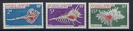 "Nle-Caledonie YT 358 à 360 "" Coquillages "" 1969 Neuf** - Neukaledonien"