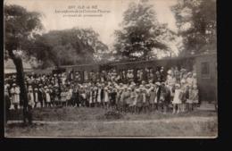 CPA025.....ENFANTS DE LA COLONIE THOIRAS ...TRAIN - Ile De Ré