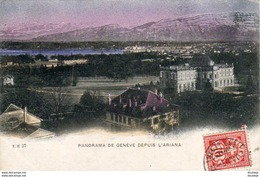 SUISSE GE GENÈVE Panorama De Genève Depuis L'Ariana - GE Genève
