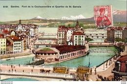 SUISSE GE GENÈVE Pont De La Coulouvrenière Et Quartier De St Gervais - GE Genève