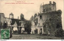D64  BIDACHE  Ruines Du Château Des DUCS De GRAMONT  ..... - Bidache