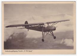 """DT- Reich (000312) Propagandakarte Verbindungsflugzeug Fiesler """"""""Fi 156 Storch"""""""", Ungebraucht - Germany"""