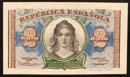 SPAGNA / SPAIN 2 PESETAS 1938 Pick#95 Unc Fds Lotto.1281 - Andere