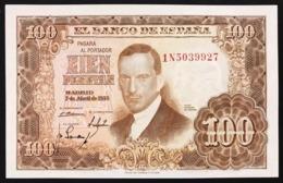SPAGNA / SPAIN 100 PESETAS 1953 Pick#145 Unc Fds Lotto.2891 - [ 3] 1936-1975 : Regime Di Franco
