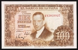SPAGNA / SPAIN 100 PESETAS 1953 Pick#145 Unc Fds Lotto.2891 - [ 3] 1936-1975: Regime Van Franco