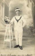 Carte  Photo Souvenir De La Guerre 1914 1915 Bizerte Marin RV - Photographie