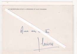 CHIRAC Jacques - Autographes