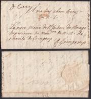 FRANCE LETTRE DATE DE CAEN 23/03/1700 (DE) DC-4168 - Poststempel (Briefe)