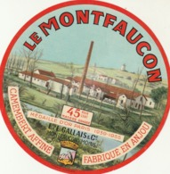 Rare Ancienne étiquette Fromage Camembert Le Montfaucon - Fromage