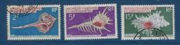 """Nle-Caledonie YT 358 à 360 """" Coquillages """" 1969 Oblitéré - Neukaledonien"""
