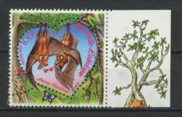 CALEDONIE 2002 N° 864 ** Neuf MNH Superbe Saint-Valentin Animaux Animals Chauve-souris Coeur - New Caledonia