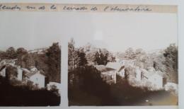 Plaque De Verre Stéréo - MEUDON, Vu De La Terrasse De L'Observatoire. (2 Plaques) - Glasdias