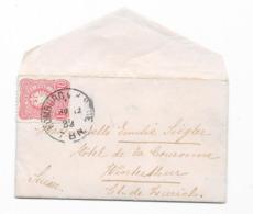 DR Brief EF Krone/Adler Mi.41 Homburg Nach Winterthur 1882 1883 - Deutschland