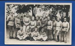 Carte Photo  Groupe De Militaires 25° Régiment - Regimente