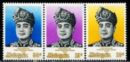 MY0812 Malaysia 1976 Supreme Head Of State Sultan Petra 3V MNH - Malaysia (1964-...)
