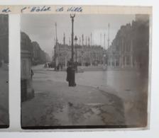 Plaque De Verre Stéréo - Paris. Place De L'Hôtel De Ville. - Glasdias